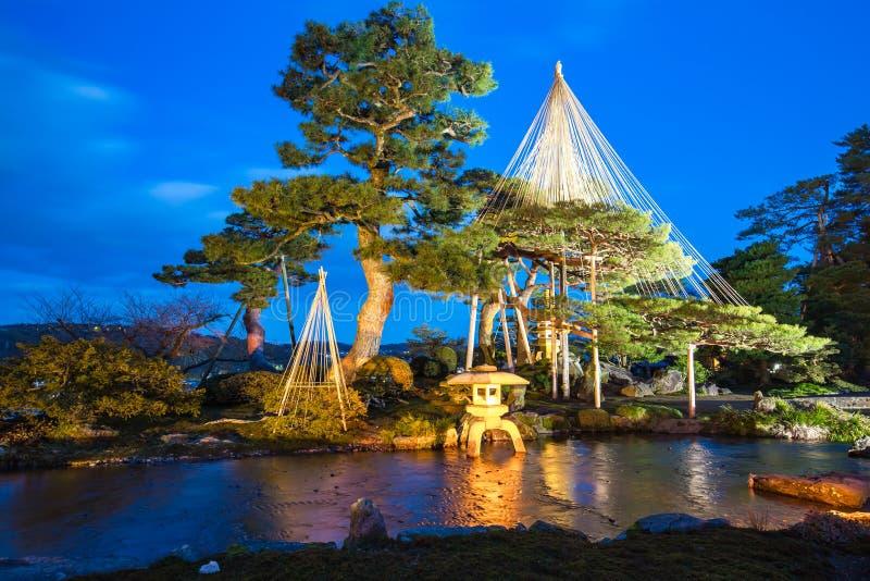Nuit au jardin kenroku en kanazawa japon image stock for Jardin kenrokuen en kanazawa