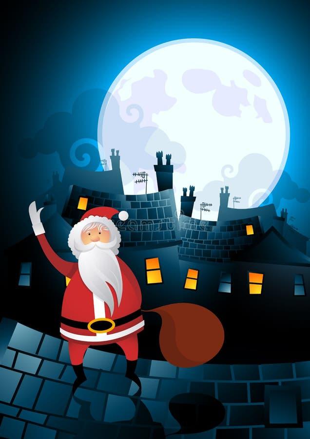 Nuit avant Noël illustration libre de droits