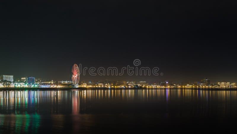 Nuit Bakou photo stock