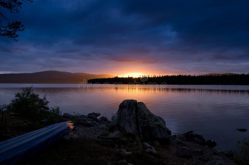 nuit bleue photo stock