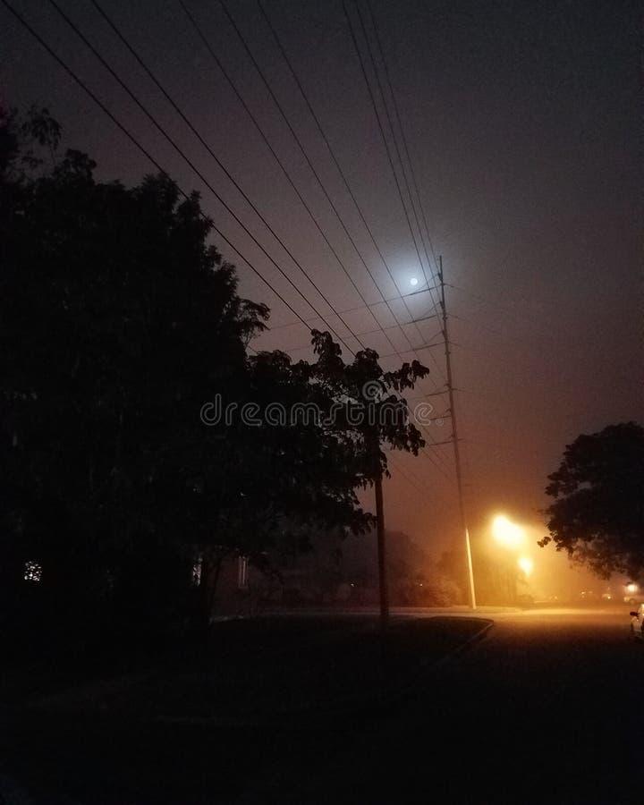 Nuit brumeuse images libres de droits