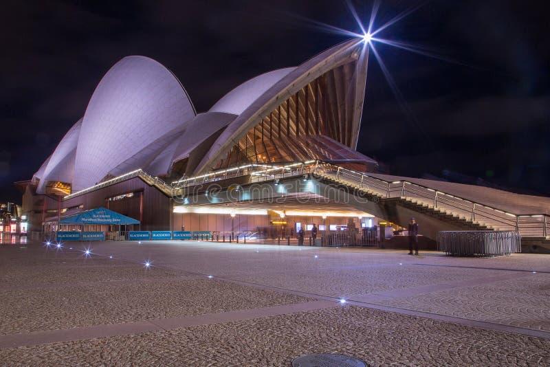 Nuit chez Sydney Opera House images libres de droits