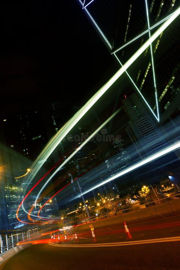 nuit colorée de ville photo libre de droits
