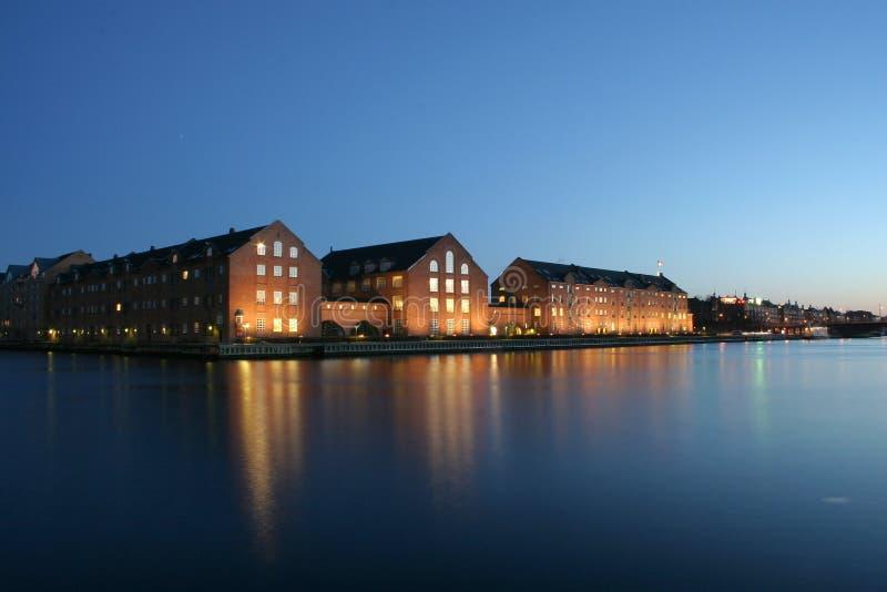 Nuit Copenhague image libre de droits