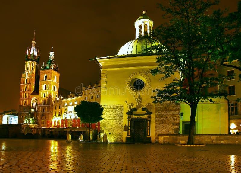 Nuit Cracovie photos stock