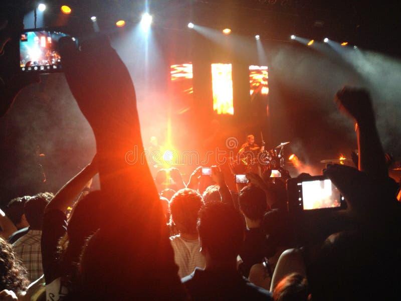 Nuit d'amusement à un concert images libres de droits