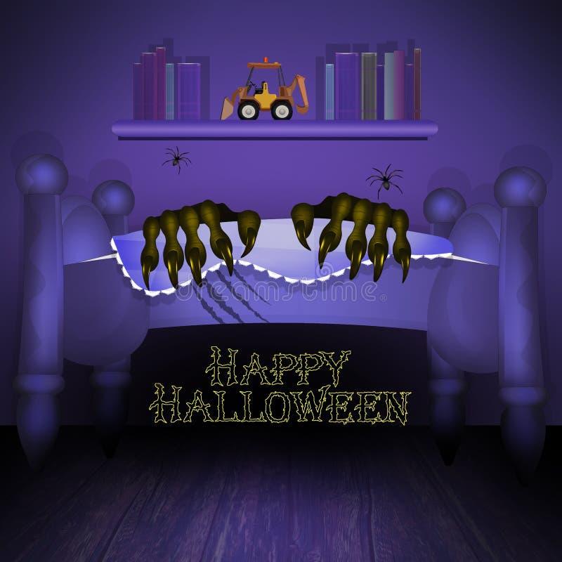 Nuit d'horreur de Halloween illustration stock