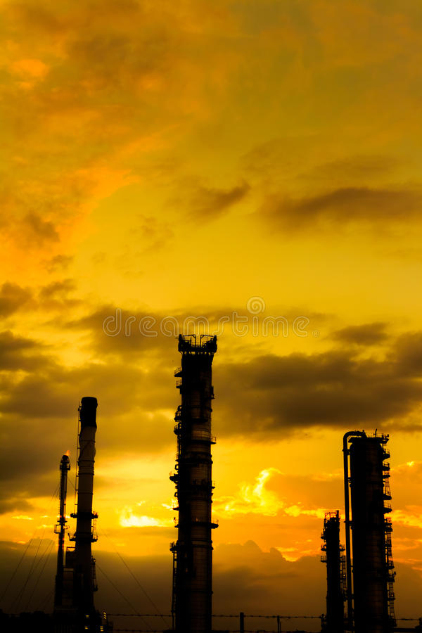 Nuit d'industrie photo stock
