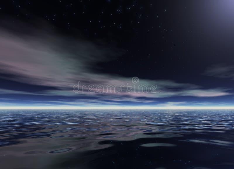 Nuit d'océan illustration stock