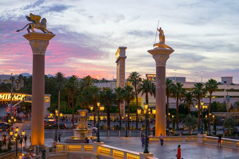 Nuit dans le vénitien à Las Vegas photographie stock