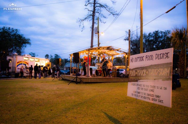 Nuit de bande, festival tallahassee la Floride de camion photographie stock libre de droits