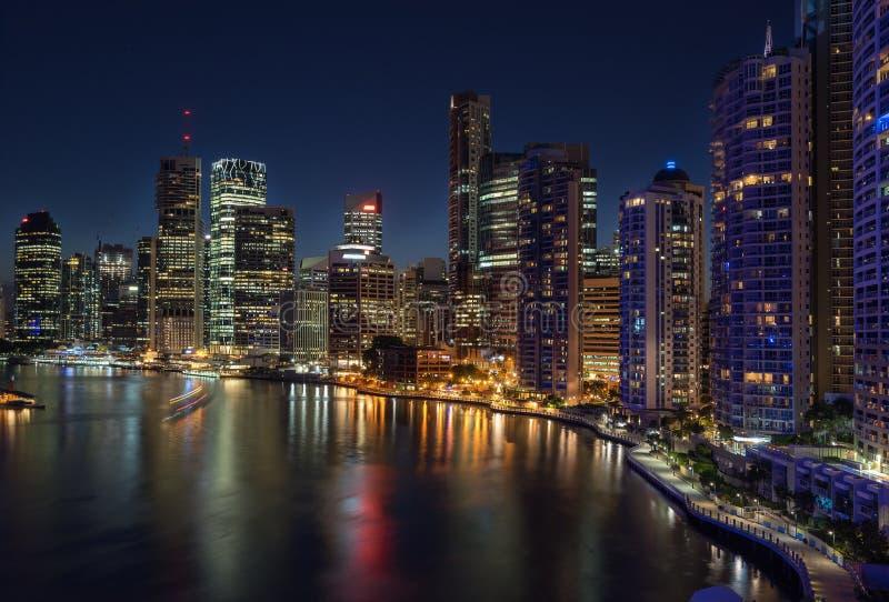 nuit de Brisbane images libres de droits