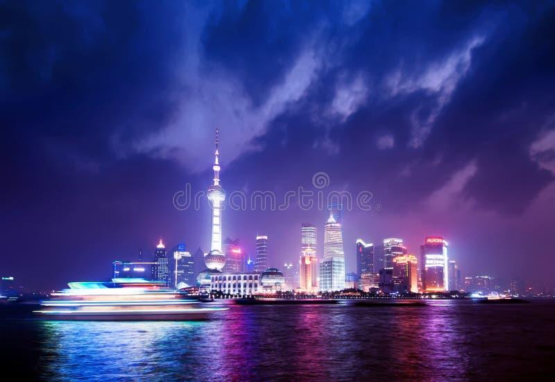 Nuit de Changhaï photos libres de droits
