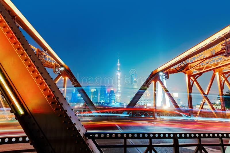 Nuit de Changhaï Bund photographie stock