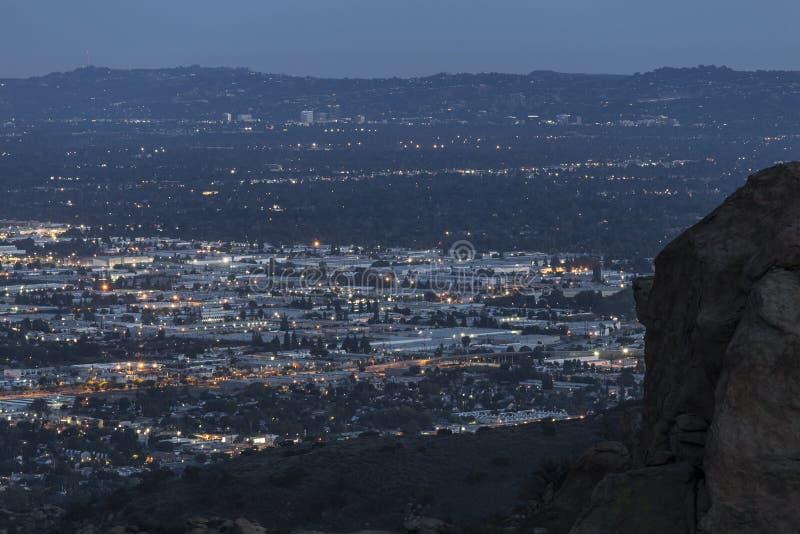 Nuit de Chatsworth la Californie image stock