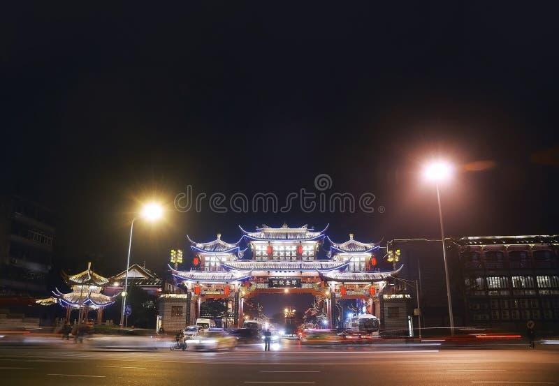 Nuit de Chengdou photos stock