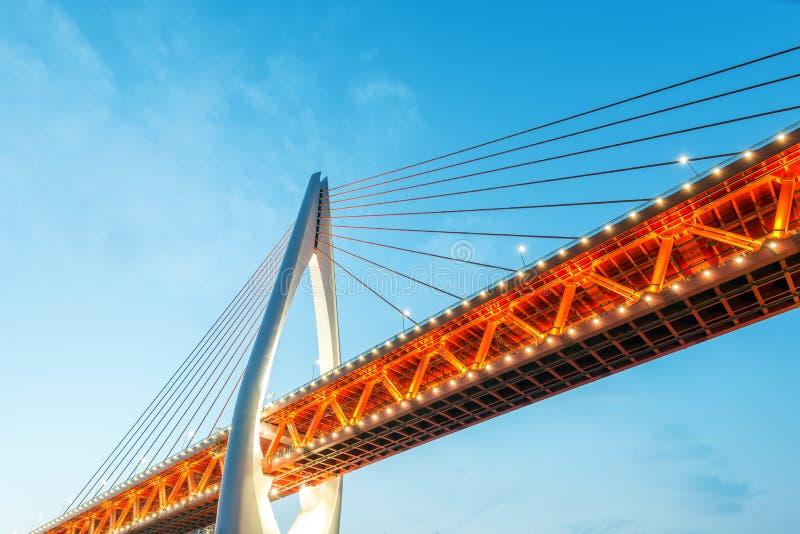 Nuit de Chongqing Bridge image libre de droits