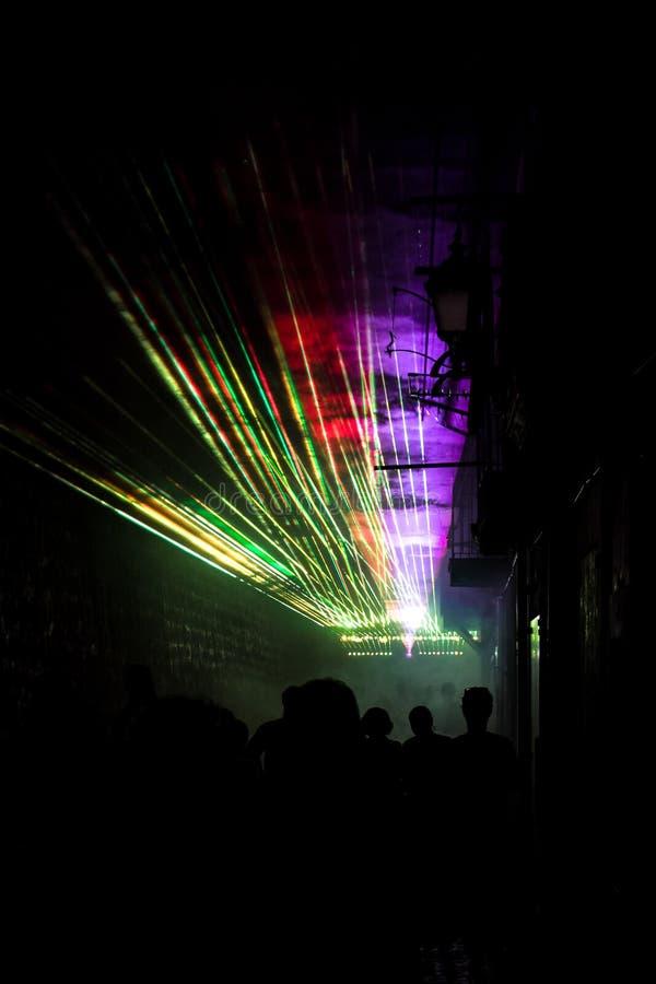 Nuit de Colorfull image libre de droits
