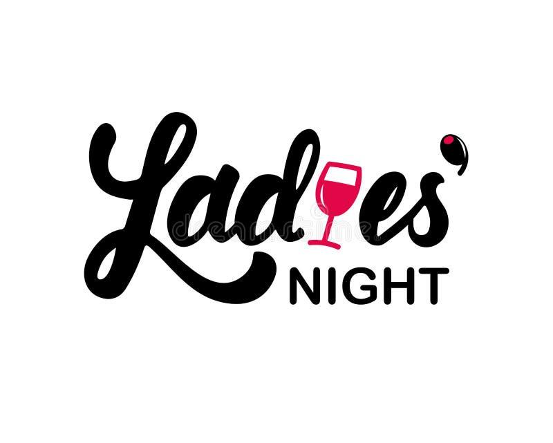 Nuit de dames illustration stock