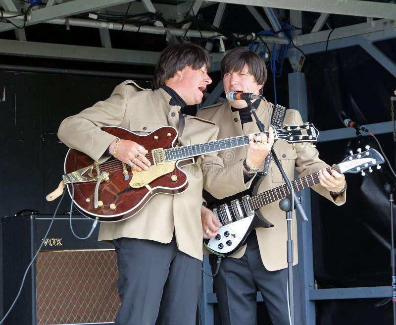 Nuit de dur labeur Beatles électrique photos libres de droits