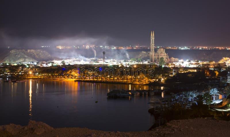 Nuit de février dans le Sharm el Sheikh photo libre de droits