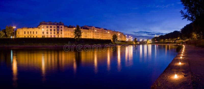 Nuit de festival à Vilnius images libres de droits