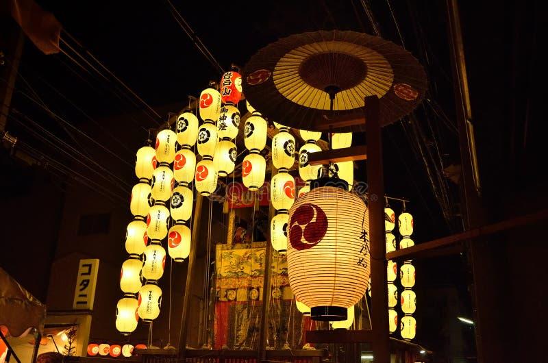 Nuit de festival de Gion, été de Kyoto Japon photo libre de droits