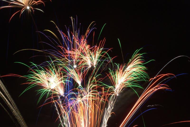 Nuit de feux d'artifice photos stock