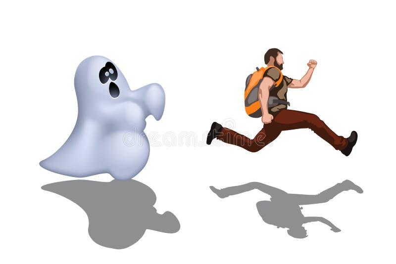 Nuit 01 de Ghost illustration stock