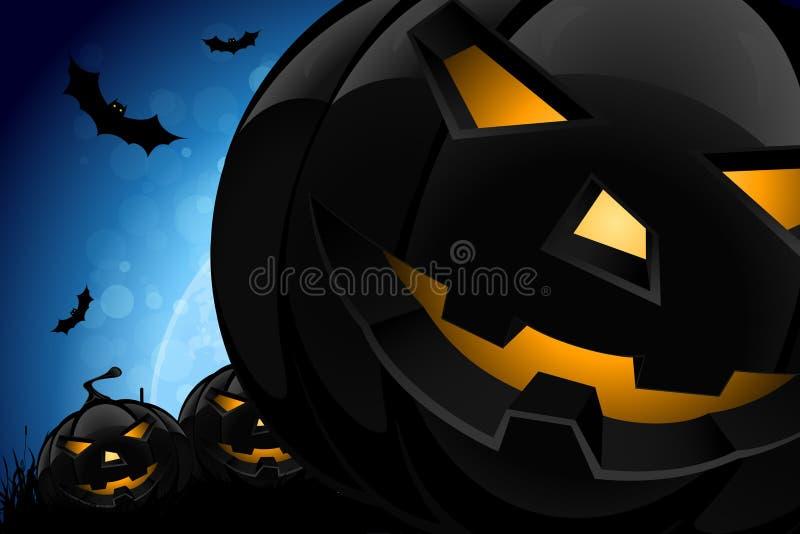 Nuit de Halloween illustration stock