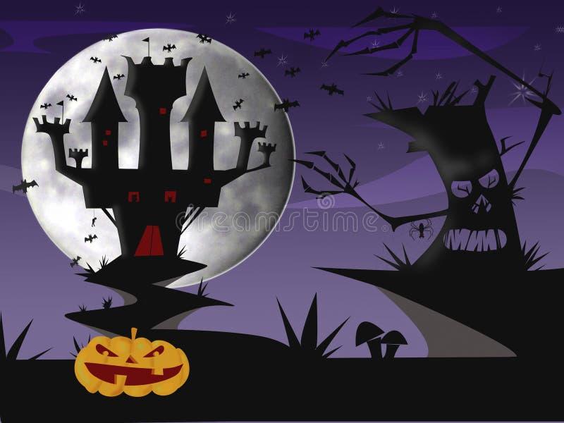 Nuit de Halloween photographie stock libre de droits