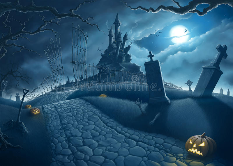 Nuit de Halloween illustration libre de droits