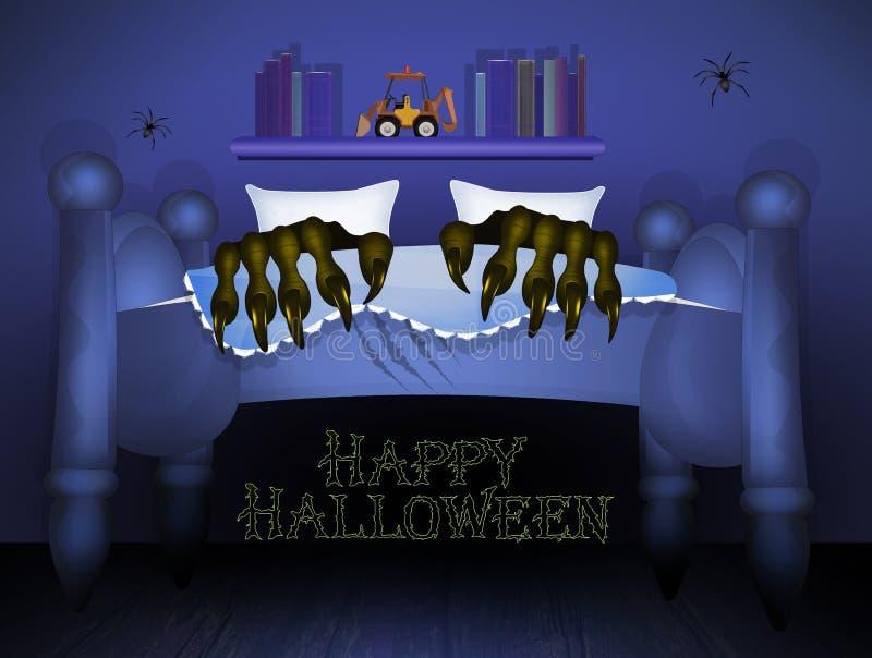 Nuit de Halloween d'horreur illustration libre de droits