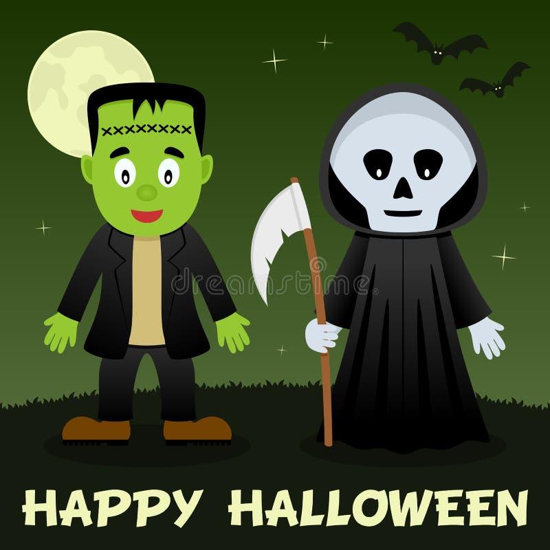 Nuit de Halloween - faucheuse de Frankenstein illustration libre de droits