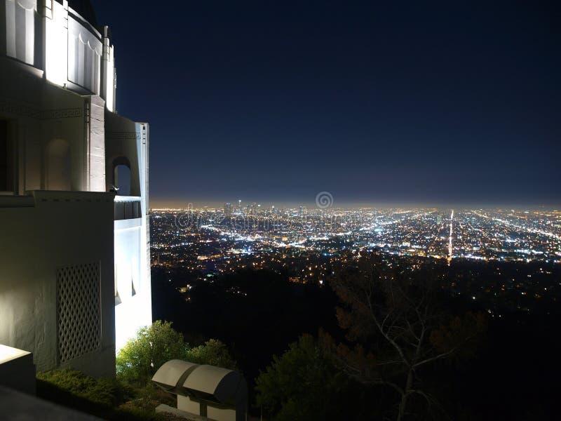 Nuit de Hollywood photographie stock libre de droits