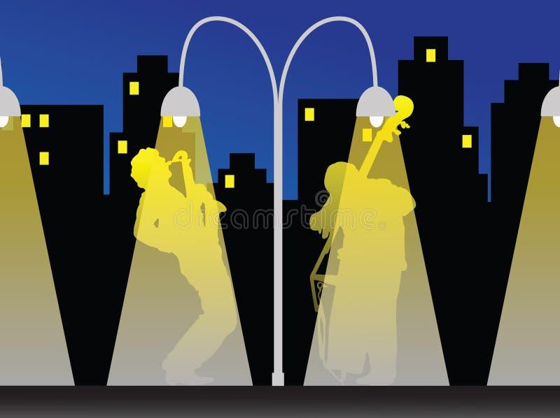 nuit de jazz illustration libre de droits