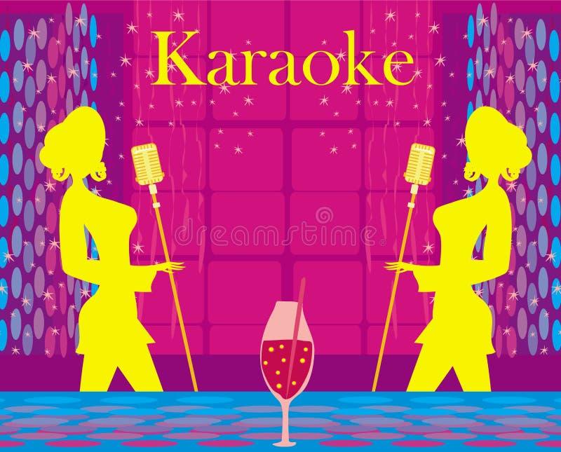 Nuit de karaoke, illustration abstraite illustration libre de droits