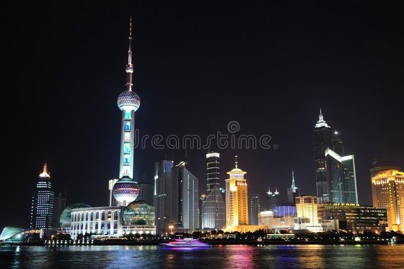 Nuit de la Chine Changhaï photos stock