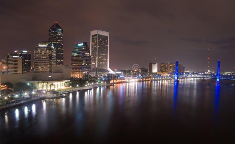 nuit de la Floride Jacksonville photo libre de droits