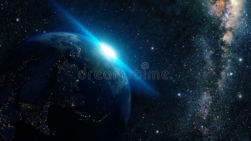 Nuit de la terre photo stock