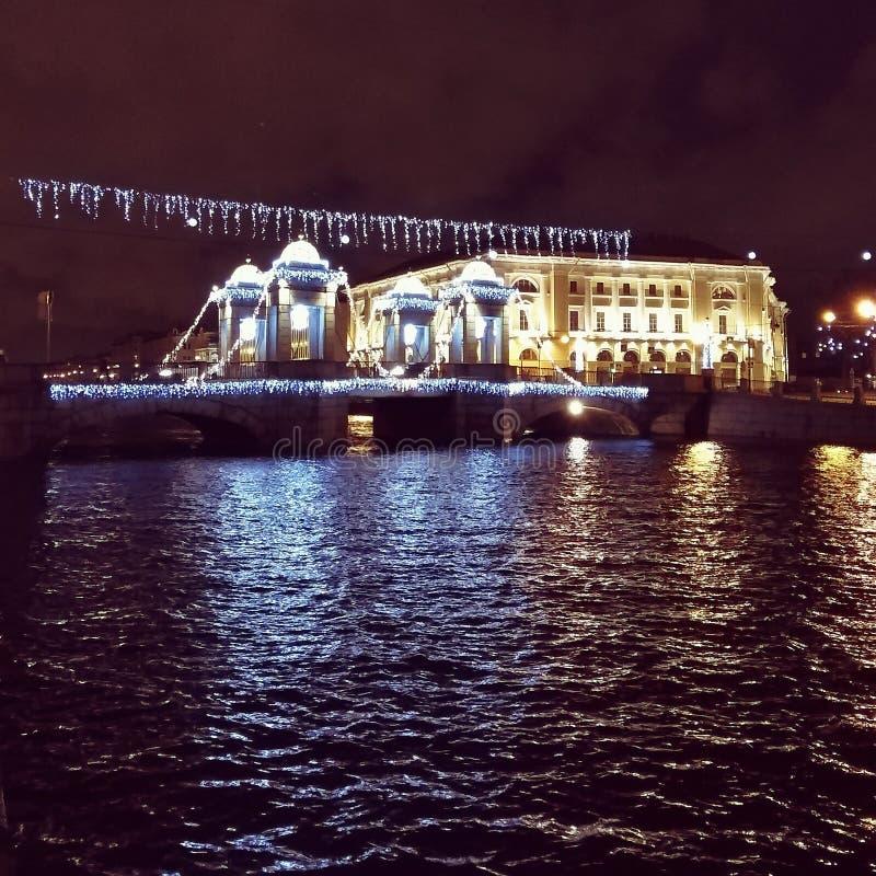 Nuit de la ville images libres de droits