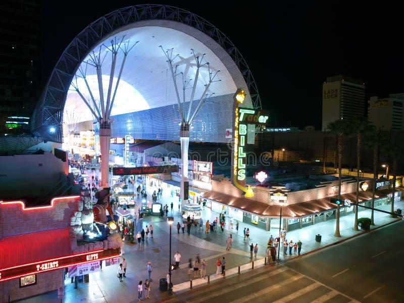 Nuit de Las Vegas de rue de Fremont image libre de droits