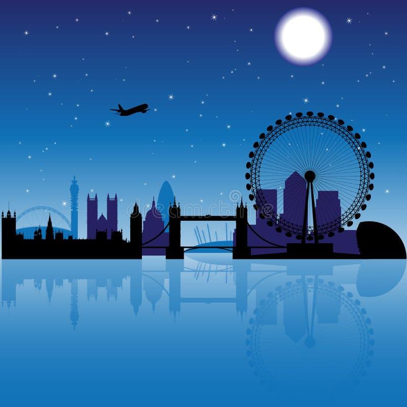 nuit de Londres illustration de vecteur