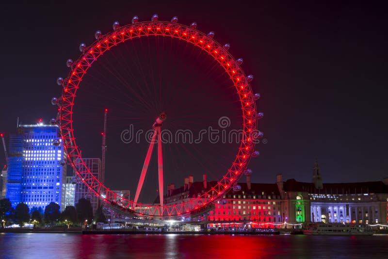 nuit de Londres d'oeil images libres de droits