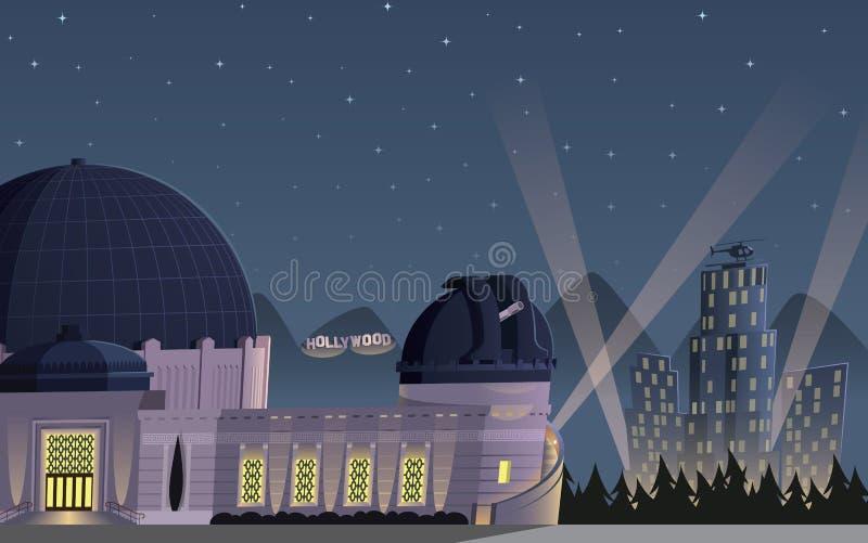 Nuit de Los Angeles illustration de vecteur