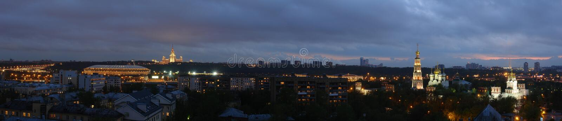 Nuit de Moscou images libres de droits