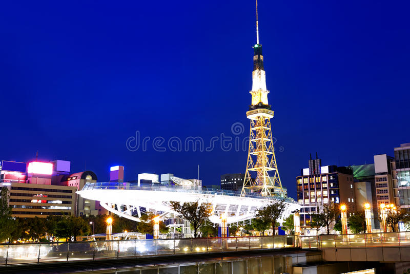 Nuit de Nagoya photos stock