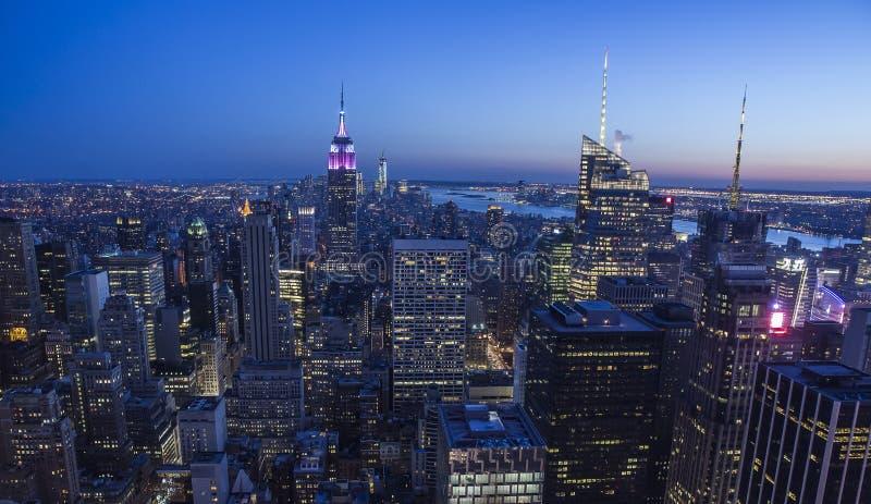 Nuit de New York photo stock