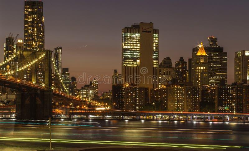 Nuit de New York images stock
