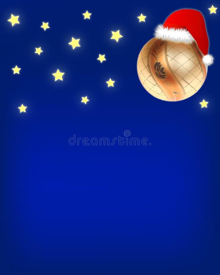 nuit de Noël de fond s illustration stock